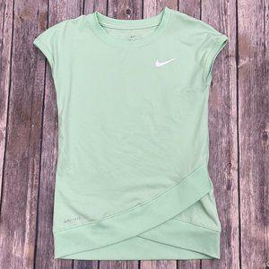 Girls Nike Dri-Fit Mint Green Top
